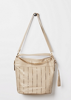 Taupe Golden Triangle Satchel