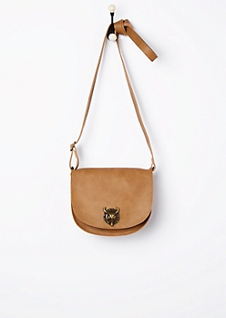Cognac Desert Steer Saddle Bag