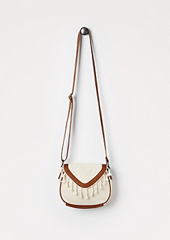 Embroidered Aztec Crossbody Bag