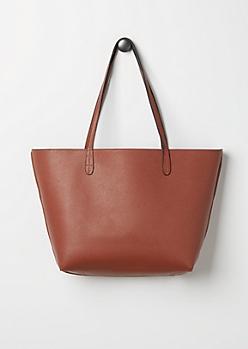Cognac Reversible Tote Bag