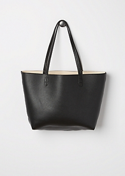 Black Reversible Tote Bag