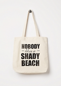 Shady Beach Canvas Tote