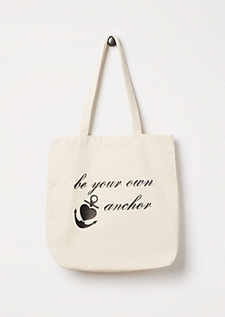 Be Your Own Anchor Canvas Tote