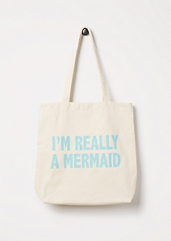 Really a Mermaid Canvas Tote