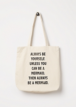 Be a Mermaid Canvas Tote