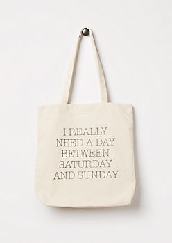 Extended Weekend Canvas Tote