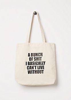 Can't Live Without Canvas Tote