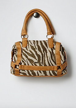 Brown Strappy Zebra Satchel By Rampage®