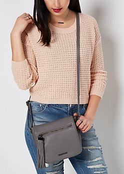 Gray Tassel Saddle Bag by Rampage