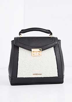 White Sherpa Convertible Satchel by Rampage