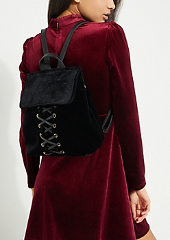 Velvet Corset Backpack