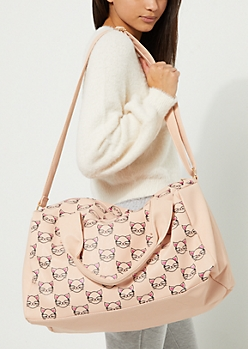 Kitty Faux Leather Duffle Bag