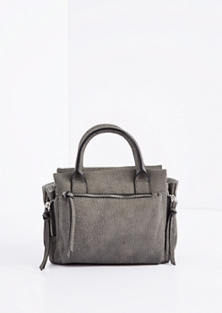 Charcoal Mini Satchel Crossbody Bag