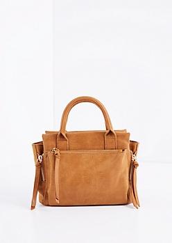 Brown Mini Satchel Crossbody Bag