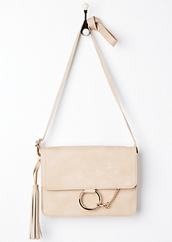 Tan O-Ring Crossbody Bag