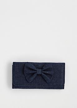 Jean Tri-Fold Bow Wallet