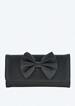 Black Milan Bow Wallet