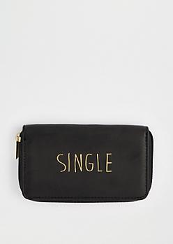 Black Taken Zip Wallet By T-Shirt & Jeans®