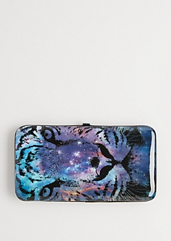 Galaxy Tiger Hinged Wallet