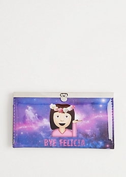 Bye Felicia Emoji Accordion Wallet