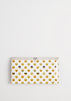 Tossed Emoji Accordion Wallet