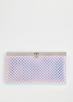 Pink Iridescent Quilted Accordion Wallet