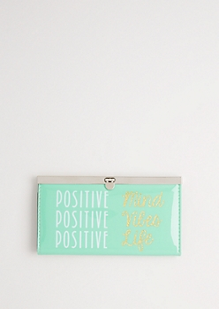 Positive Vibes Accordion Wallet