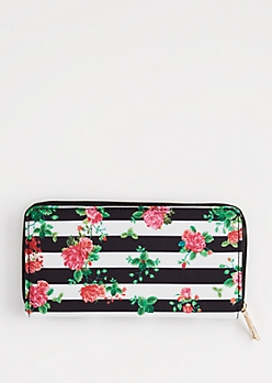 Rosy Striped & Dotted Wallet