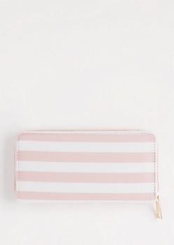 Pink Dotted & Striped Wallet
