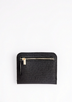Black Mini Snap Wallet