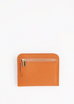 Cognac Mini Snap Wallet