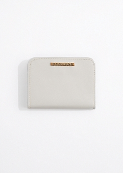Gray Faux Leather Scalloped Wallet By Rampage