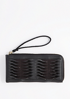 Black Twist Suede Wallet By Rampage