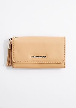 Cognac Tasseled Tri-Fold Wallet By Rampage