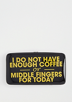 Never Enough Hinged Wallet