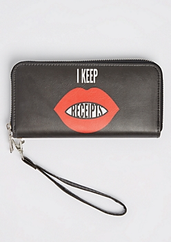 I Keep Receipts Wristlet