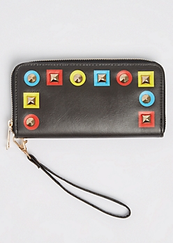 Colorful Mixed Stud Wristlet