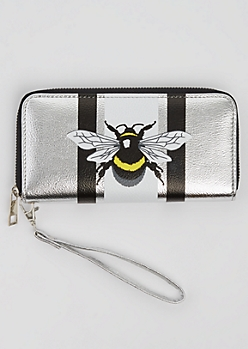 Metallic Bee Wristlet