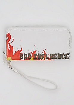 Bad Influence Flame Wristlet