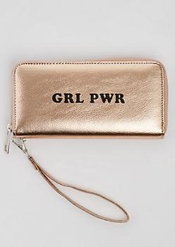 GRL PWR Metallic Wristlet