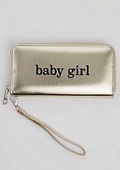 Baby Girl Metallic Wristlet