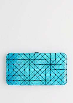 Blue Iridescent Geo Hinged Wallet