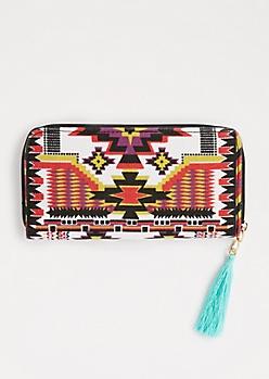 Aztec Tassel Charm Wallet