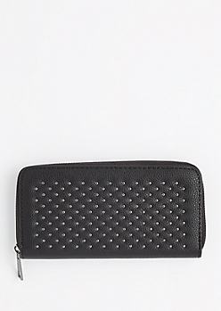 Black Metallic Studded Wallet