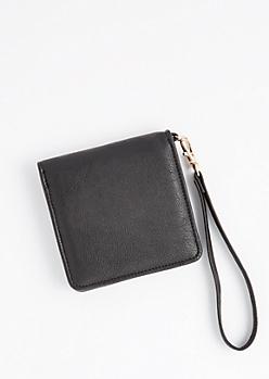 Black Snap Small Wallet
