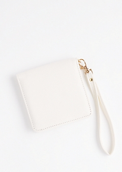 White Snap Small Wallet