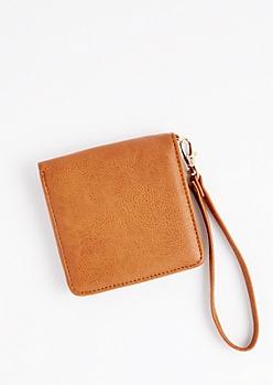 Cognac Snap Small Wallet