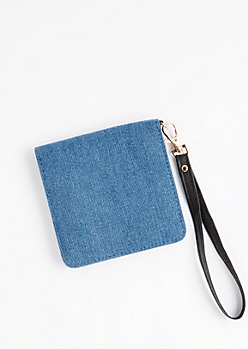 Denim Snap Small Wallet