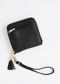 Black Tassel Small Wallet