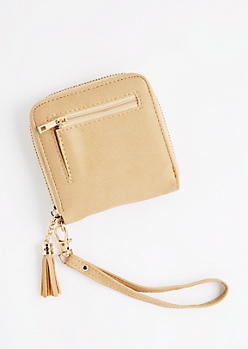Taupe Tassel Small Wallet
